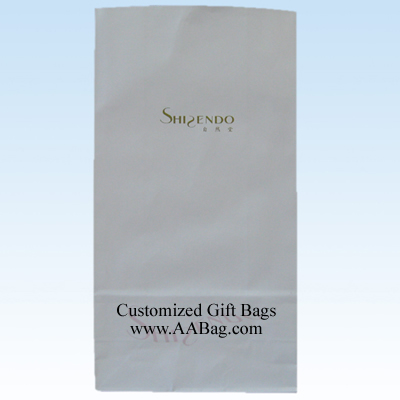 white kraft paper bag with logo