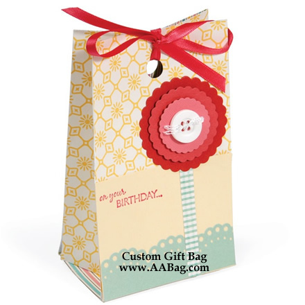 Birthday Gift Bag with Fancy design