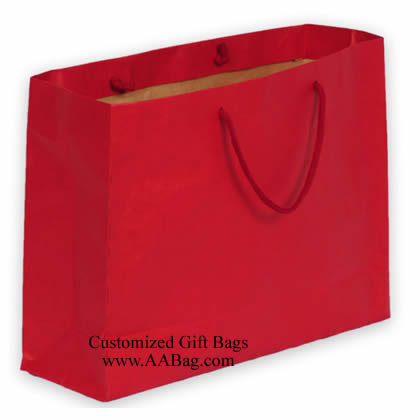 Solid color Kraft Shopping bag